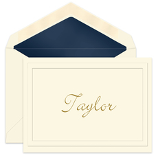 Abigail Embossed Ecru Folded Note Cards
