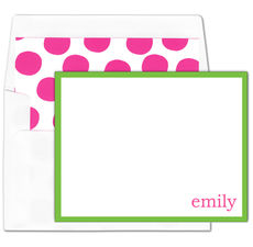 Kelly Green Folded Note Cards