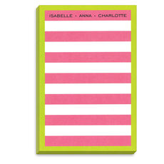Dark Pink Rugby Lime Border Notepad