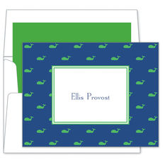 Blue Whale Folded Note Cards