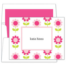 Big Pink Daisy Foldover Notes Cards