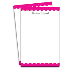 Pink Scalloped Notepads