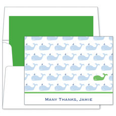 Whale Repeat Folded Note Cards