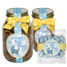 Personalized Blue Baby Buggy Favors or Gifts
