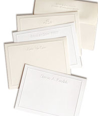 Simple Embossed Border Note Cards