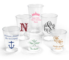 Personalized Clear Hard Plastic Cups for All Occasions