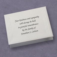 Yorkshire Sympathy Cards on Double Thick Stock