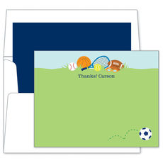 Sports Boy Flat Note Cards