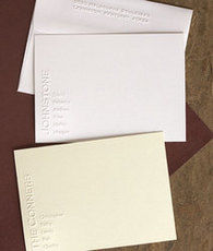 Embossed Family Note Cards
