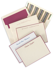 Williamsburg Wine Hand-Bordered Flat Note Cards