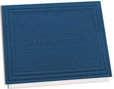 Embossed California Classic Frame Navy Note Cards