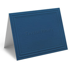 Embossed California Classic Frame Folded Navy Note Cards