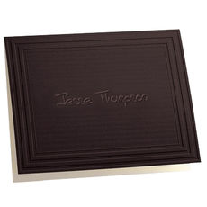 Embossed California Classic Frame Mocha Note Cards