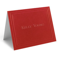 Embossed California Classic Frame Folded Red Note Cards