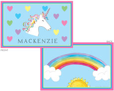 Unicorn Over the Rainbow Laminated Placemat