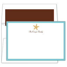 Starfish Flat Note Cards