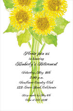 Sunflowers Invitations