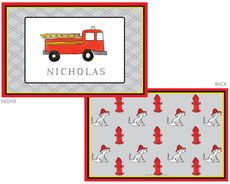 Firetruck Laminated Placemat