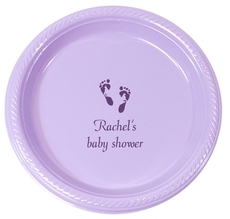 Personalized Baby Twinkle Toes Plastic Plates