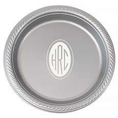 Design Your Own Monogrammed Plastic Plates