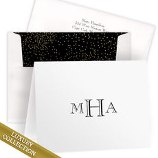 Luxury Monogram Folded Note Card Collection