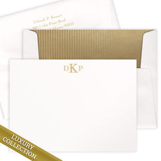 Luxury Monogram Flat Note Card Collection