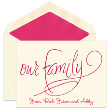 Our Family Ecru Foldover Note Cards