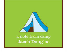 Blue Tent Camp Folded Note Cards