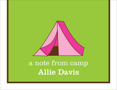 Pink Tent Camp Folded Note Cards