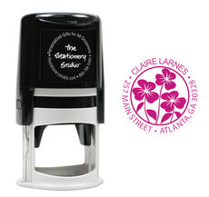 Garden of Pansies Self Inking Stamper