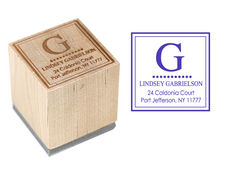 Gabrielson Wood Block Rubber Stamp