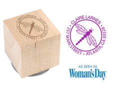 Dragonfly Wood Block Rubber Stamp
