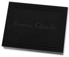 Embossed California Classic Frame Black Note Cards