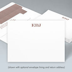 Block Initials Flat Correspondence Note Cards
