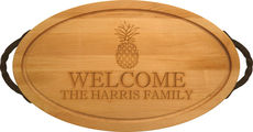 Maple 24 inch Oval Personalized Cutting Board