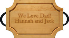 Maple 18 inch Scalloped Personalized Cutting Board