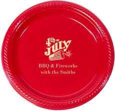 Personalized 4th of July Plastic Plates
