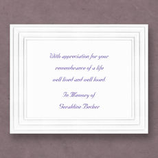 Triple Border Sympathy Cards on Double Thick Stock