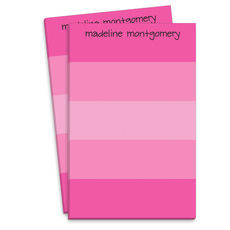 Shocking Pink Striped Notepad