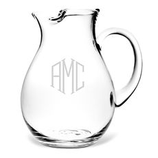 Monogrammed Classic Pitcher