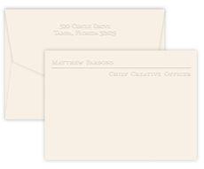 Triple Thick Avenue Embossed Flat Note Cards