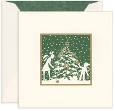 Tree and Children Holiday Cards with Inside Imprint