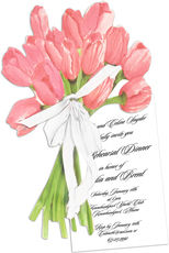 Tulip Bouquet Die-cut Invitations