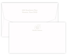 Triple Thick Embossed Capital Wide Flat Note Cards