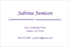Jamison Calling Cards