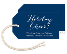 Navy Horizontal Little Hanging Gift Tags