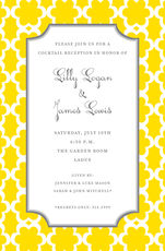 Golden Bloom Invitations