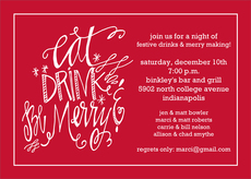 Eat Drink Be Merry Invitations