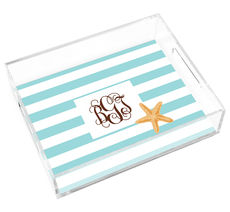 Starfish Stripe Lucite Trays