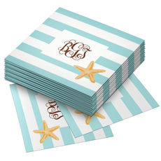 Starfish Stripe Paper Coaster Set